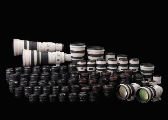 Many camera lenses
