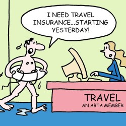 travel insurance, question, urgent, need insurance, cartoon