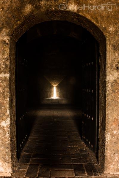 doorway, light, end, tunnel, castle, Fortaleza Ozama