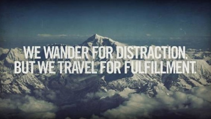 travel for fulfillment
