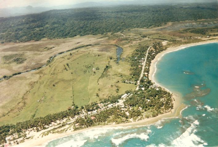 aerial, cabarete, dominincan republic, beach, island