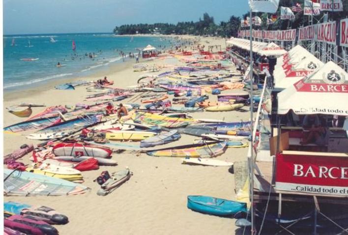windsurf, surf, beach, ocean, cabarete
