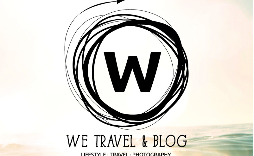we travel & blog, we travel and blog, wetravelandblog, logo, retro insignia, travel lifestyle photography, travel, lifestyle, photography, logo, W logo, bokeh, ocean,