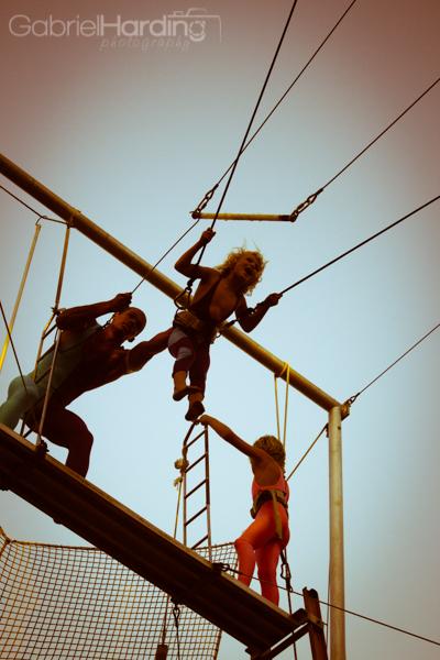 trapeze, happy, kid, show, circus