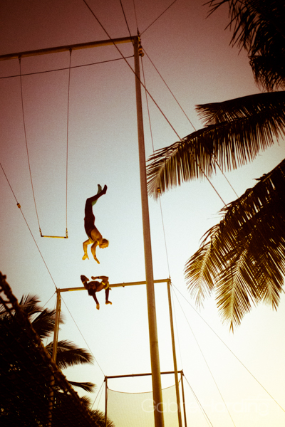ninja, flip, trapeze, circus, show