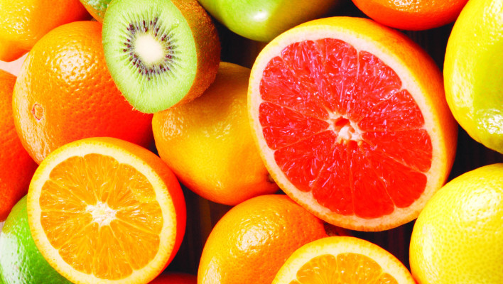 fruits, orange, kiwi, grapefruit, fruits