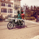 pvc pipes, motorcycle, third world, developping world, dominican republic