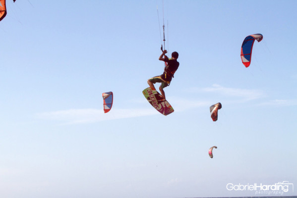kiter, kiteboarding, blue, blue sky, kites, dominican republic