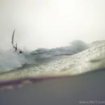 flying board, surf, rain, bail, fall, water, grey, purple, underwater