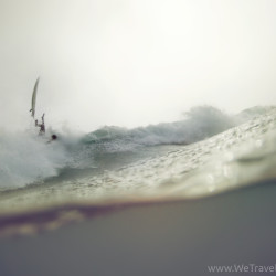 flying board, surf, rain, bail, fall, water, grey, purple, underwater