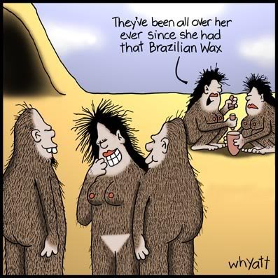 cartoon, homo sapien, bikini wax, hair down there, no hair down there, comedy, funny