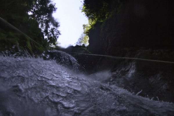 Canyoning Dominican Republic, waterfall, rappelling, fun, adventure