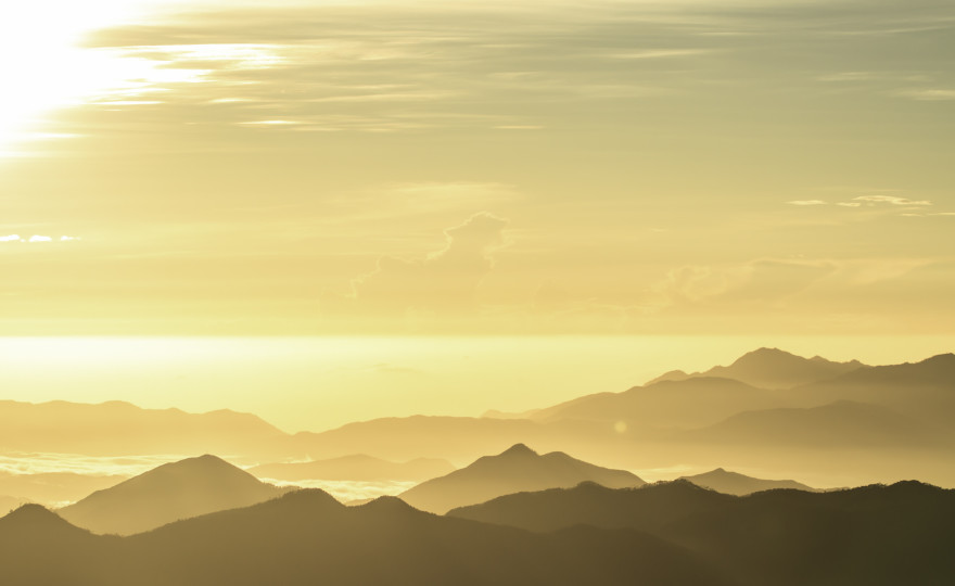 landscape, sunrise, pico duarte, top of the world