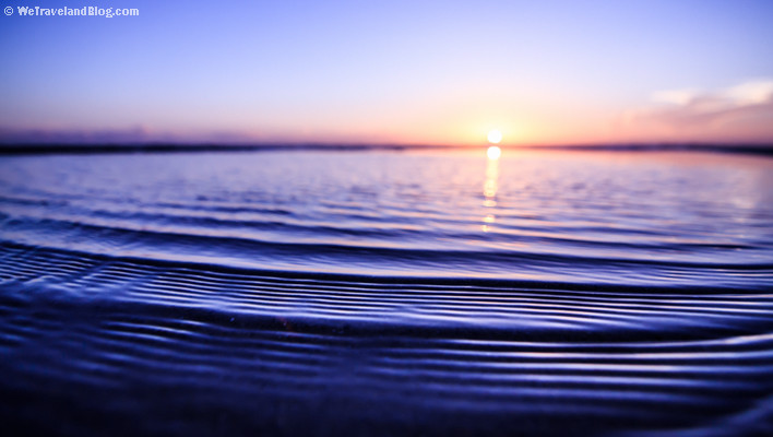 sunrise, tropics, sun, colors, ripples, ocean