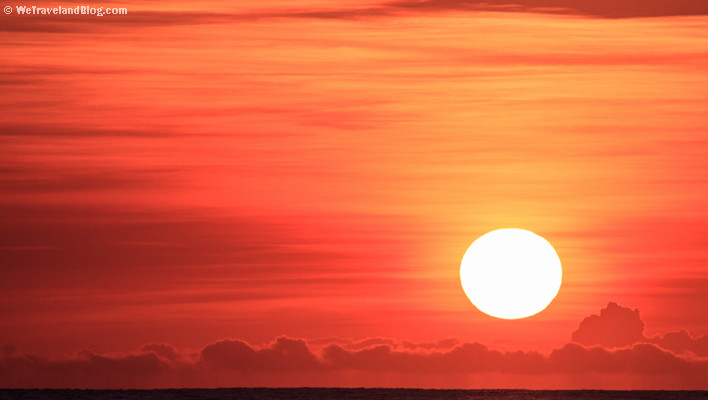 sunrise, tropics, sun, colors, orange, red