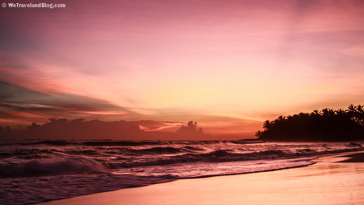 sunrise, tropics, sun, colors, purple, ocean, beach