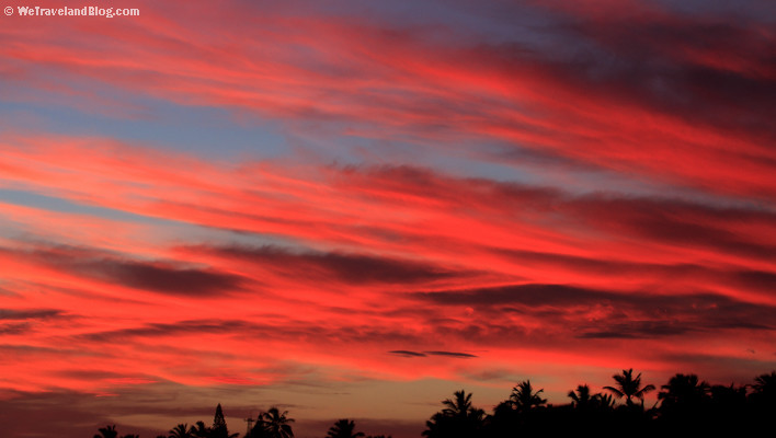 sunrise, tropics, sun, colors, red, sky
