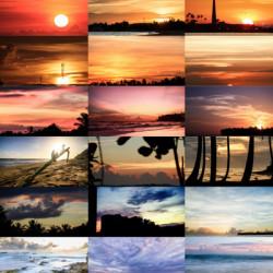 sunrise, 30 days, collage