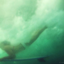duckdive, girl, surf, underwater