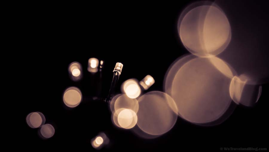 bokeh christmas lights, lights, christmas, boke
