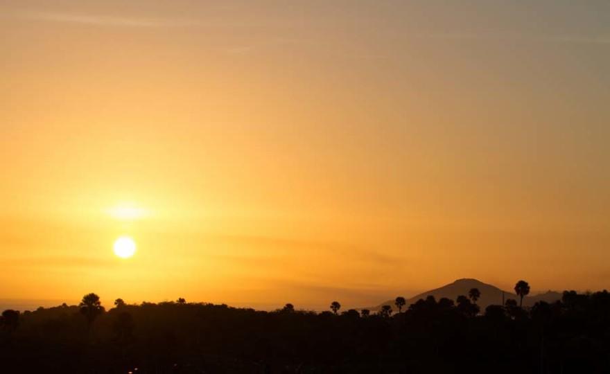 sunrise, mountains, sun, rise, nature