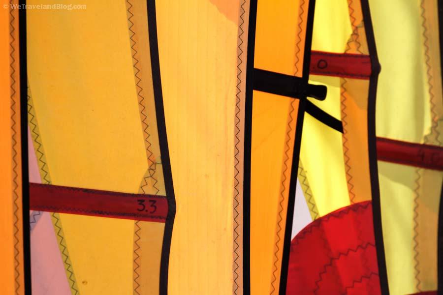 sails, windsurf, wind, sailing, orange