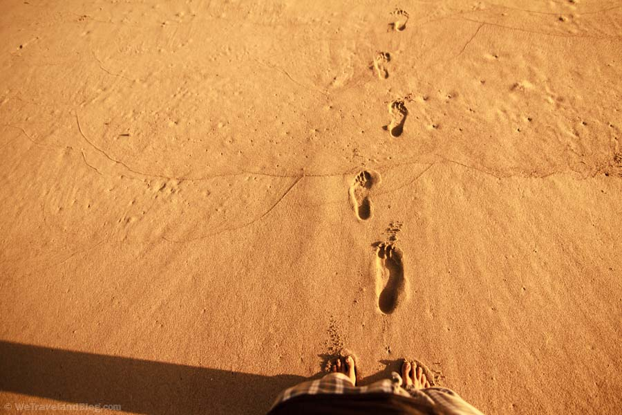 sand, footprints, beach