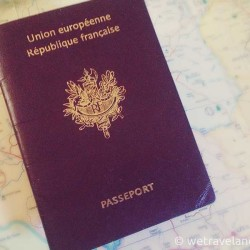 french passport, roap map, http://wetravelandblog.com, passport, travel, wanderlust