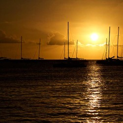 sunset, sun, orange, ocean, beautiful sunset
