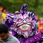 carnival dominican republic, carnival, purple, big teeth, creepy
