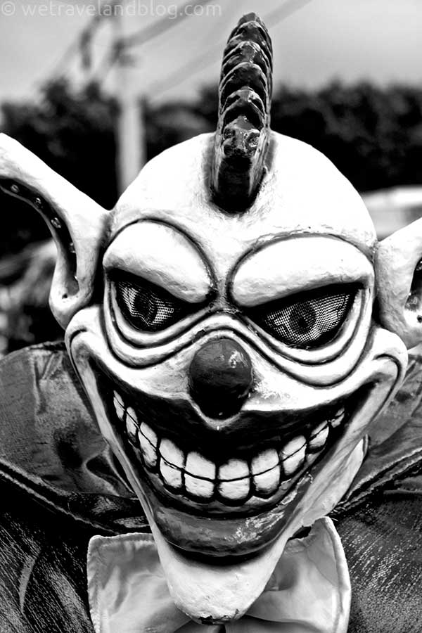 scary clown carnival dominican republic