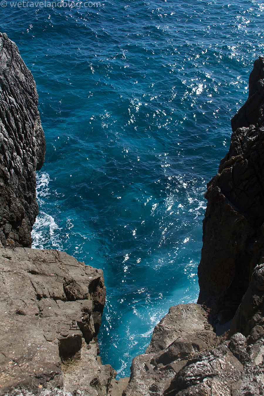 ... and this is the beautiful blue water below.