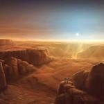 mars, valles marineris, sunset, landscape, canyon, astronauts, epic exploration, space travel, http://grafik.deviantart.com/