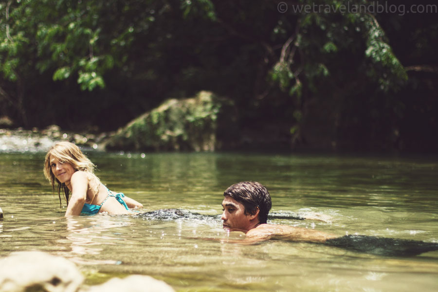 couple, cute couple, brandon sanford, saltwater swimwear, mermaid, merman, river, dominican republic, http://wetravelandblog.com