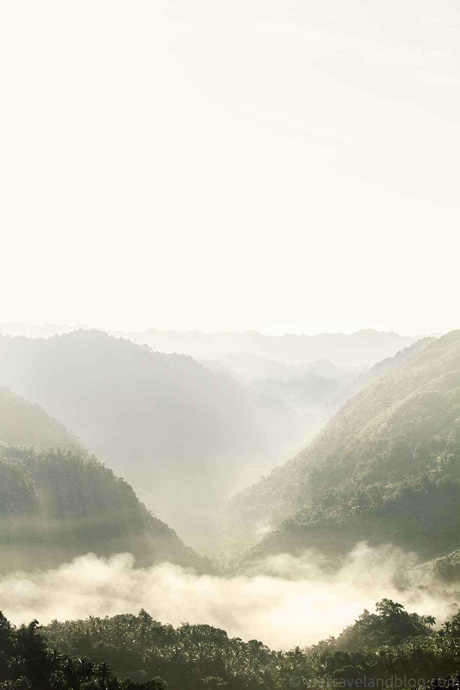 laguna del diablo, dominican republic, escape, hike, adventure, fog, layers