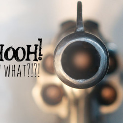 trouble, looking down the barrel, loaded gun, gun in your face, what do you do with a gun in your face, typography, http://wetravelandblog.com