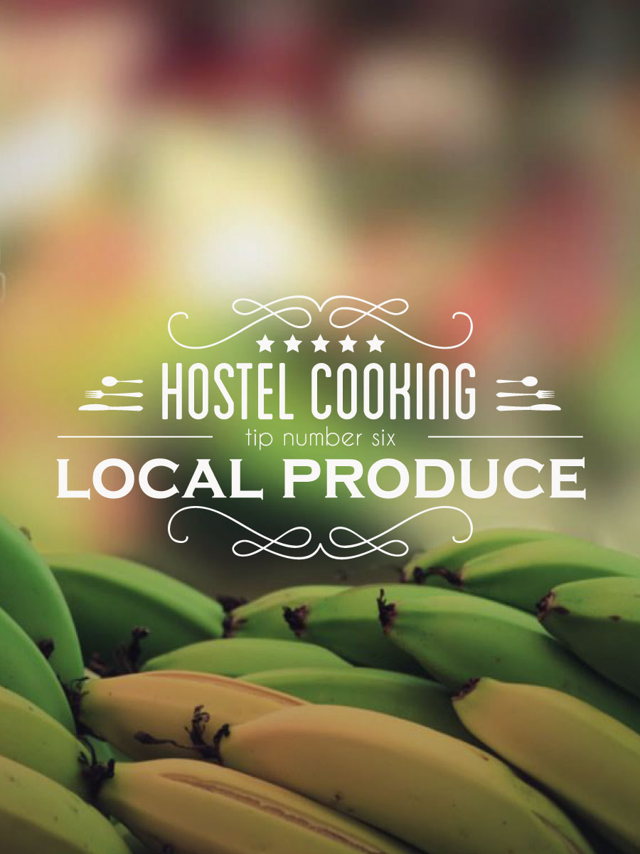typography, vintage, insignia, kitchen, bananas, local produce, how to cook, http://wetravelandblog.com