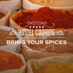typography, vintage, insignia, kitchen, spices, life hack, how to carry spices, spice sacks, market spices, kitchen tips, http://wetravelandblog.com