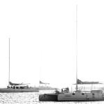 harbor, sail boat, black and white, sailing, tourism, over tourism, white, http://wetravelandblog.com