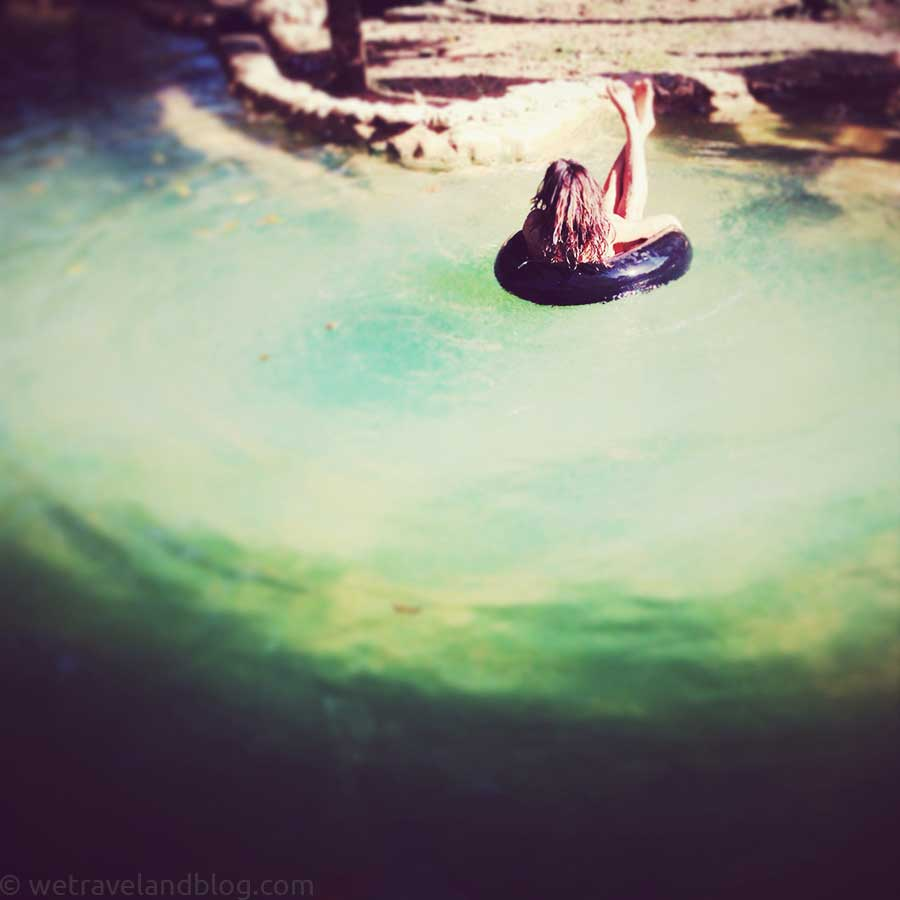 girl, inner tube, teal, green, river water, river, fresh, country, hotel, los haitises, lodging, boutique, eco, http://wetravelandblog.com
