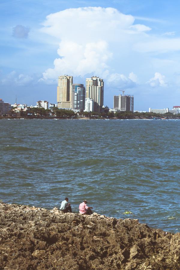 fishermen, fishing, city, cityscape