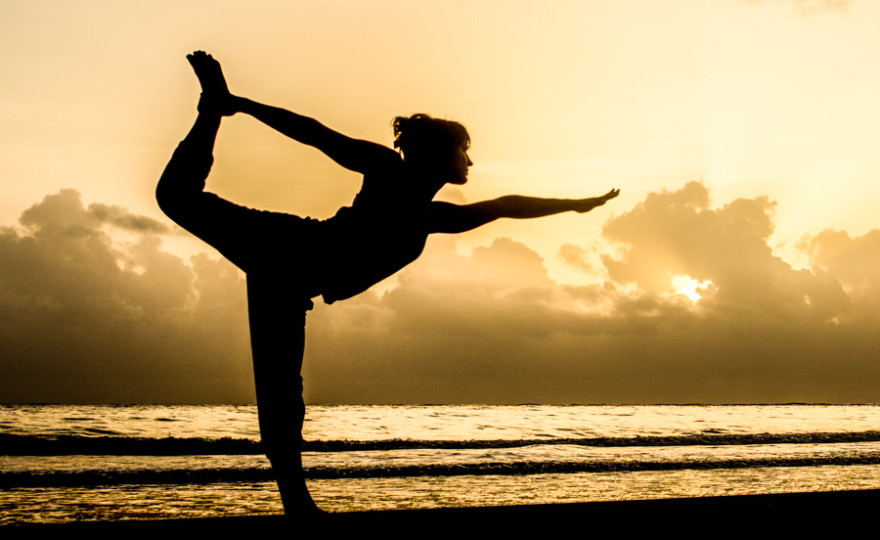 woman, sunrise, yoga, silhouette, clouds, yellow, orange, bright, breath, love , light