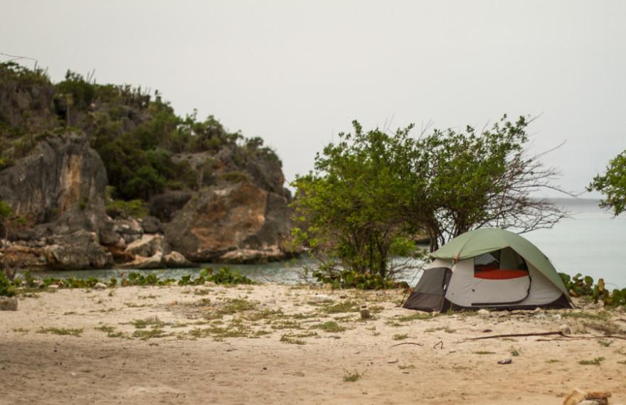 camping, tent, beach camping