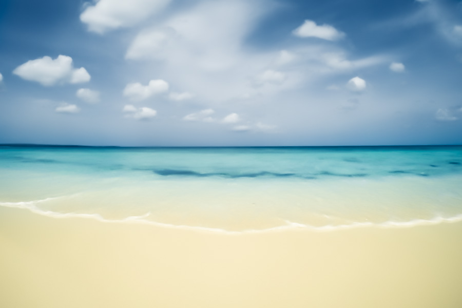 crystal blue, bahia de las aguilas, ocean, beach