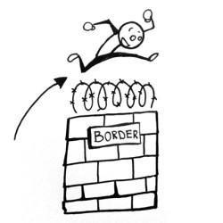 jump, sketch, border, wetravelandblog