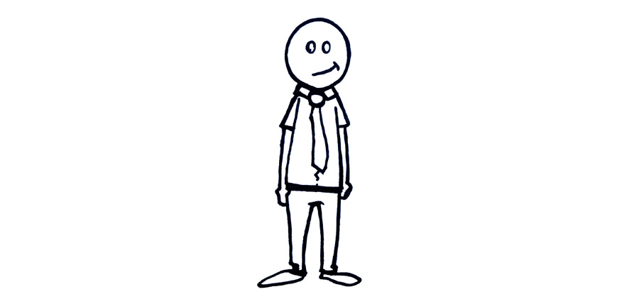 cartoon, stick figure, suit, business man, silly smile, just stand there, hey!, wetravelandlblog.com