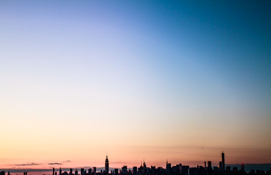 NYC skyline sunset small-1