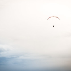 paragliding, parachute, sky, alone, lonely, clouds, flying, evening, http://wetravelandblog.com