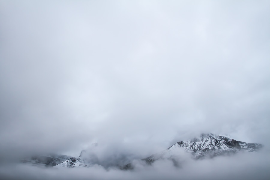 mountians, snow, clouds, icefield parkway, canada