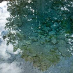 johnston canyon, canada, jasper, reflections, blue, water, nature